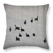 You Better Get Your Ducks In A Row Throw Pillow by Bill Cannon