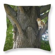 You Cant Catch Me Throw Pillow