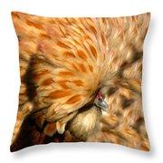 You Chicken  Throw Pillow