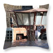 You Go Get The Tractor  Throw Pillow