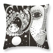 You Me The Stars And The Moon Throw Pillow