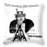 You Shall Be Obese By Fat Uncle Sam Throw Pillow