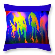 You Walked Into The Blue And Left Me Behind  Throw Pillow