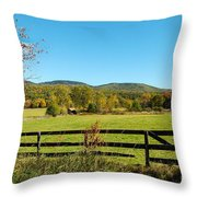 Young And Swain Road, Gilford N H Throw Pillow