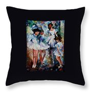 Young Ballerinas Throw Pillow