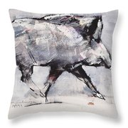 Young Boar Throw Pillow