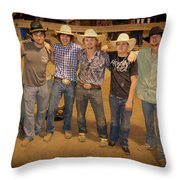 Young Bull Riders Portrait Throw Pillow