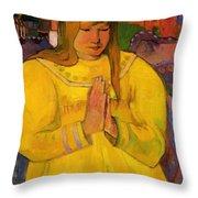 Young Christian Girl 1894 Throw Pillow