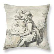 Young Couple Throw Pillow