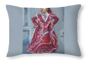 Young Dancer At Arneson Theater Throw Pillow