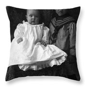 Young Ernest Lawrence And Brother, 1904 Throw Pillow