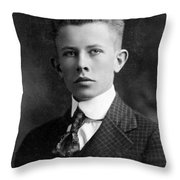 Young Ernest Lawrence Throw Pillow