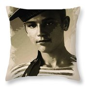 Young Faces From The Past Series By Adam Asar - Asar Studios, No 1 Throw Pillow