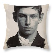 Young Faces From The Past Series By Adam Asar - Asar Studios, No 3 Throw Pillow