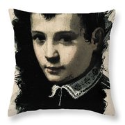 Young Faces From The Past Series By Adam Asar - Asar Studios, No 4 Throw Pillow