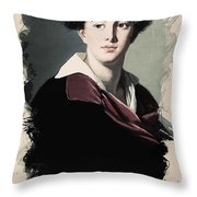 Young Faces From The Past Series By Adam Asar, No 10 Throw Pillow