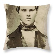 Young Faces From The Past Series By Adam Asar, No 101 Throw Pillow