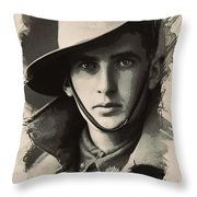 Young Faces From The Past Series By Adam Asar, No 104 Throw Pillow
