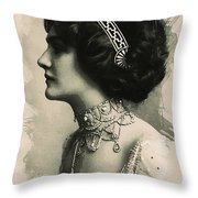 Young Faces From The Past Series By Adam Asar, No 105 Throw Pillow