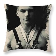 Young Faces From The Past Series By Adam Asar, No 110 Throw Pillow