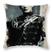 Young Faces From The Past Series By Adam Asar, No 111 Throw Pillow