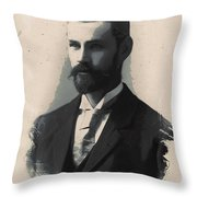 Young Faces From The Past Series By Adam Asar, No 113 Throw Pillow