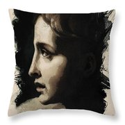 Young Faces From The Past Series By Adam Asar, No 117 Throw Pillow