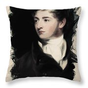 Young Faces From The Past Series By Adam Asar, No 16 Throw Pillow
