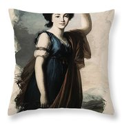 Young Faces From The Past Series By Adam Asar, No 19 Throw Pillow