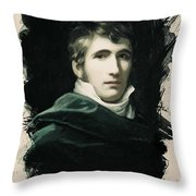 Young Faces From The Past Series By Adam Asar, No 22 Throw Pillow