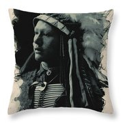 Young Faces From The Past Series By Adam Asar, No 26 Throw Pillow