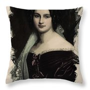 Young Faces From The Past Series By Adam Asar, No 28 Throw Pillow