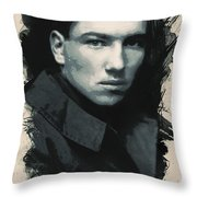 Young Faces From The Past Series By Adam Asar, No 33 Throw Pillow