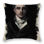 Young Faces From The Past Series By Adam Asar, No 34 Throw Pillow
