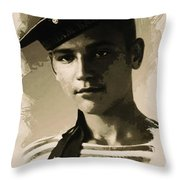Young Faces From The Past Series By Adam Asar, No 39 Throw Pillow