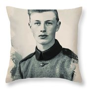 Young Faces From The Past Series By Adam Asar, No 40 Throw Pillow