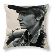 Young Faces From The Past Series By Adam Asar, No 45 Throw Pillow