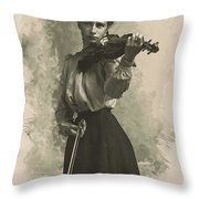 Young Faces From The Past Series By Adam Asar, No 47 Throw Pillow