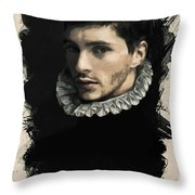 Young Faces From The Past Series By Adam Asar, No 59 Throw Pillow