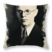 Young Faces From The Past Series By Adam Asar, No 6 Throw Pillow