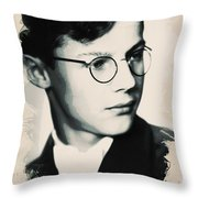 Young Faces From The Past Series By Adam Asar, No 60 Throw Pillow