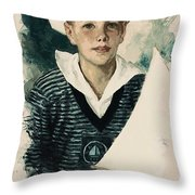 Young Faces From The Past Series By Adam Asar, No 66 Throw Pillow