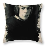 Young Faces From The Past Series By Adam Asar, No 67 Throw Pillow