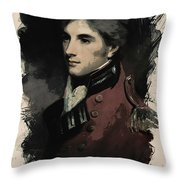 Young Faces From The Past Series By Adam Asar, No 69 Throw Pillow