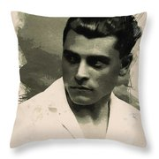 Young Faces From The Past Series By Adam Asar, No 73 Throw Pillow