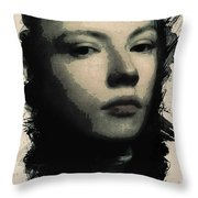 Young Faces From The Past Series By Adam Asar, No 75 Throw Pillow
