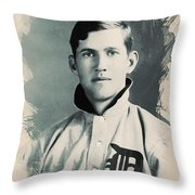 Young Faces From The Past Series By Adam Asar, No 78 Throw Pillow