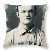 Young Faces From The Past Series By Adam Asar, No 79 Throw Pillow