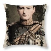 Young Faces From The Past Series By Adam Asar, No 8 Throw Pillow