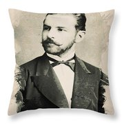 Young Faces From The Past Series By Adam Asar, No 84 Throw Pillow